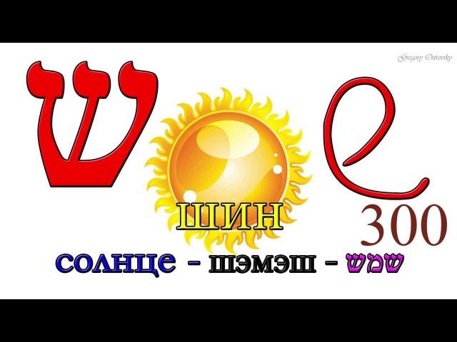 Ивритский алфавит с русским переводом