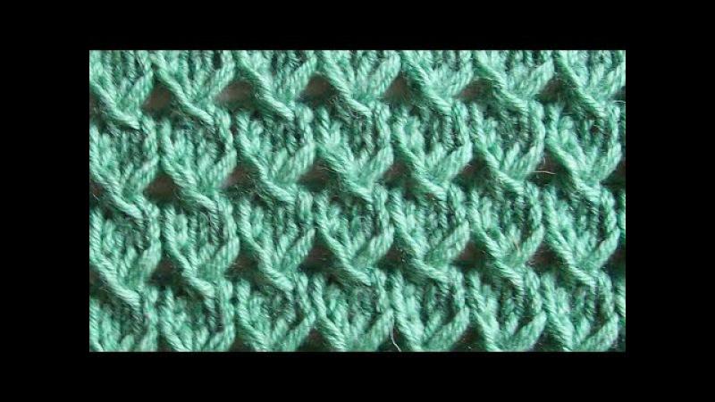Простой ажурный узор Вязание спицами Видеоуроки