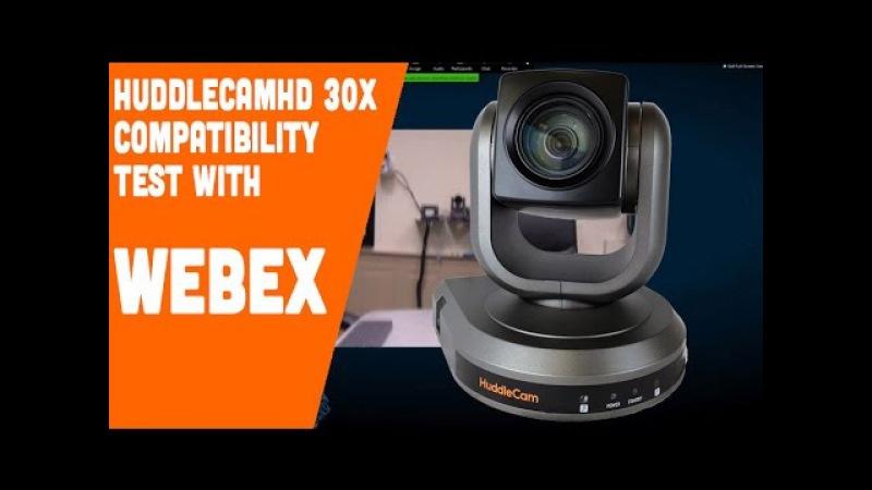 HuddleCamHD 30X Compatible with WebEX (PTZ USB Webcam)
