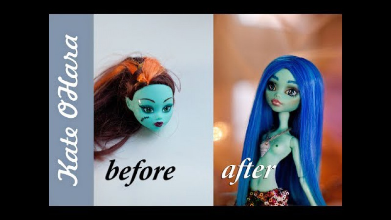 ООАК Русалочка из подделки Monster High.