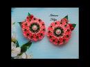 Layered beautiful flowers /Как сделать многослойный цветок? Сборка /Канзаши для Начинающих /МК/