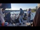 Alex Cameron on a boat in Austin