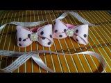 Банты канзаши красивые, идеи для девочек