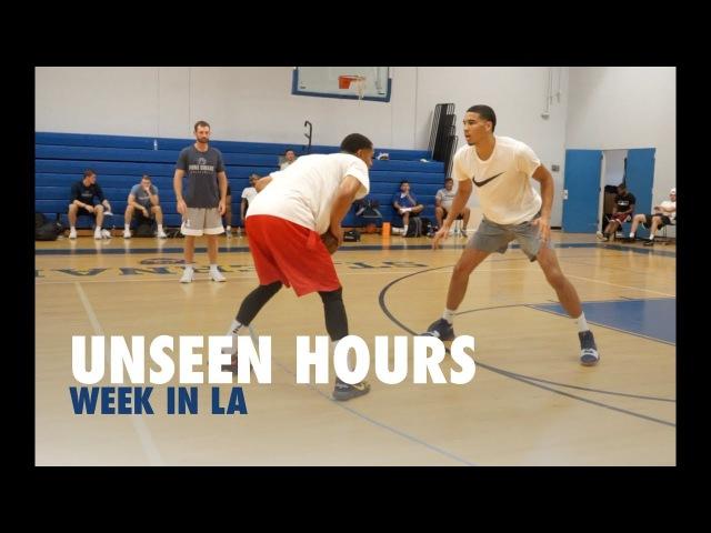 Jayson Tatum, Jordan Clarkson Kelly Oubre Play 1 on 1 | Unseen Hours With Drew Hanlen Ep 4