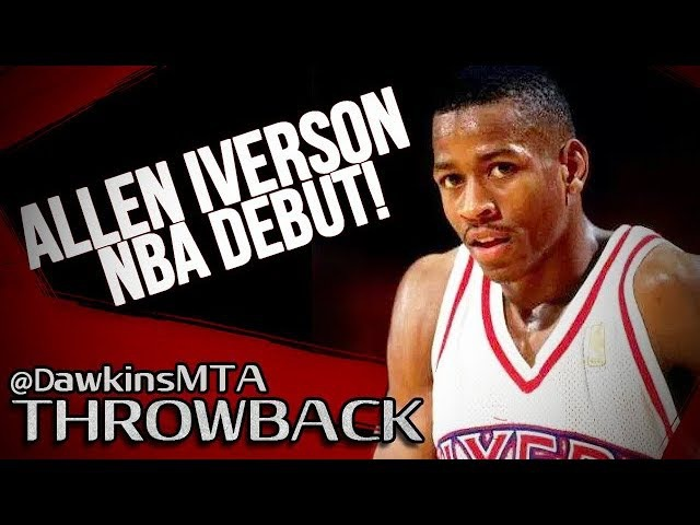 Rookie Allen Iverson NBA DEBUT 1996.11.01 76ers vs Bucks - 30 Pts, 6 Assists For AI!