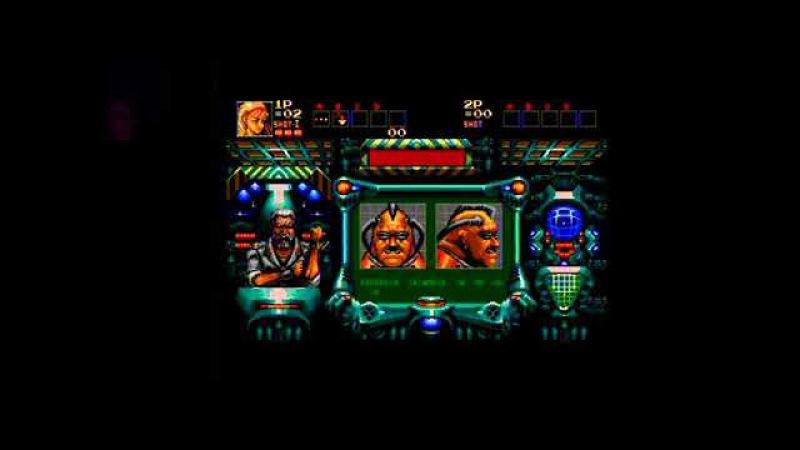 Полное Прохождение Contra Hard Corps (J). Sega MD2 Pal. Complete Walkthrough
