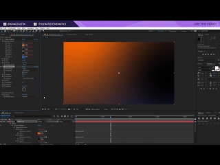 How To Create a FAKE Light Leak Film Burn Animation in After Effects Tutorial