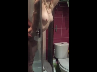 Wife caught fucking the neighbor in the shower