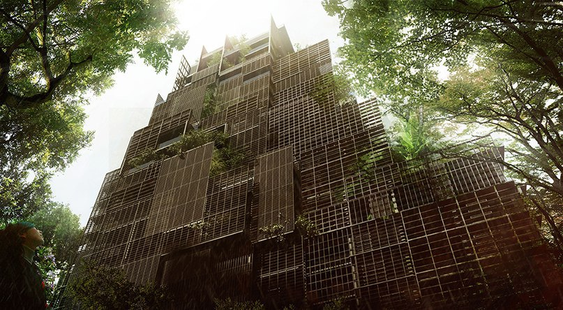 Jean Nouvel plans to populate São Paulo's rosewood tower with trees and lush greenery