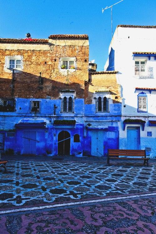 Синий город Шавен, Марокко
