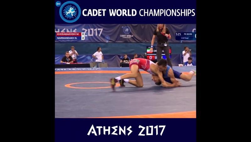 Лучший Бросок Чемпионата Мира по Вольной Борьбе 2017 среди Кадетов RIWUS