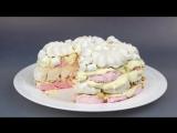 Торт без выпечки Мальвина. Легкий в приготовлении, но невероятно вкусный и нежный.