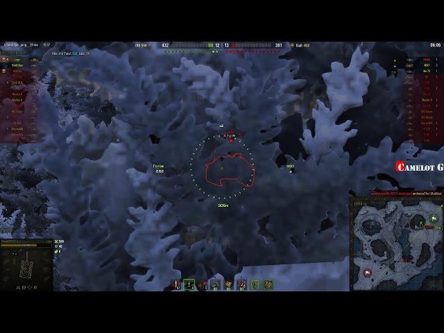 World of Tanks тактика боя WOT! Camelot G Camelot J Камелот Джи Камелот Г обзор видео гайд