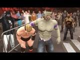 WWE 2K17 Zombies Mode - James Ellsworth Battles Zombie Roster (WWE PS4)