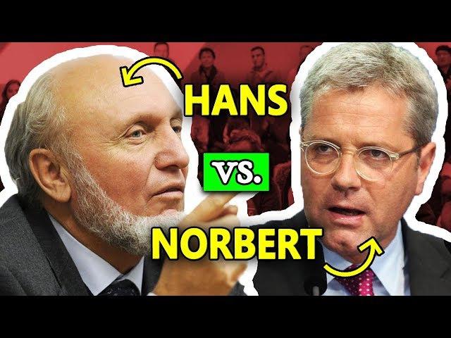 ANSEHEN: Hans-Werner Sinn zerlegt Norbert Röttgen (EU, Brexit, Flüchtlinge)