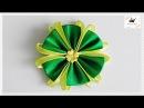 Kwiat ze wstążki 🌼kanzashi 🌼 jak wykonać🌼krok po kroku🌼86