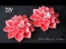 Цветы Канзаши из Атласной Ленты 2,5 см DIY Kanzashi Flowers from Satin Ribbon 2,5 cm