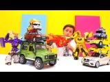 Megatron VS Bumblebee Transformers oyunu. Otobotlar. Yarış arabalar. Oyuncak Araba Koleksiyonu