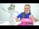 Игры для девочек с куклами МонстерХай 👗 Делаем Новое платье Рошель своими рука...