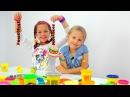 Лучшие видео youtube на сайте main-host Видео для детей. Пластилин ПЛЕЙ ДО, Ксюша и Настя. Ждем гостей!