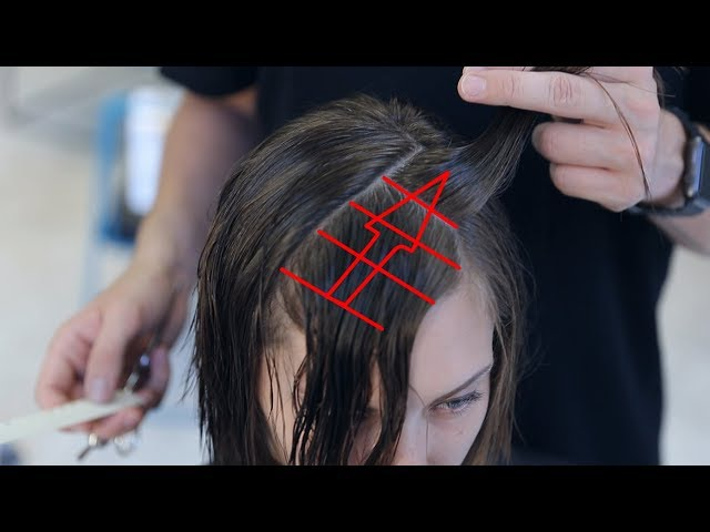 How to cut creative bob with accents