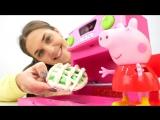 СВИНКА ПЕППА ! Видео для детей с игрушками: #ПЕППА играет в #игрушки и готовит Яблочный пирог