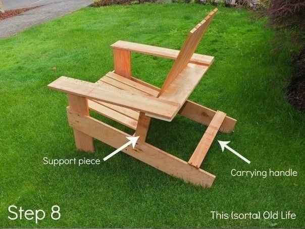 Как сделать кресло на дачу.