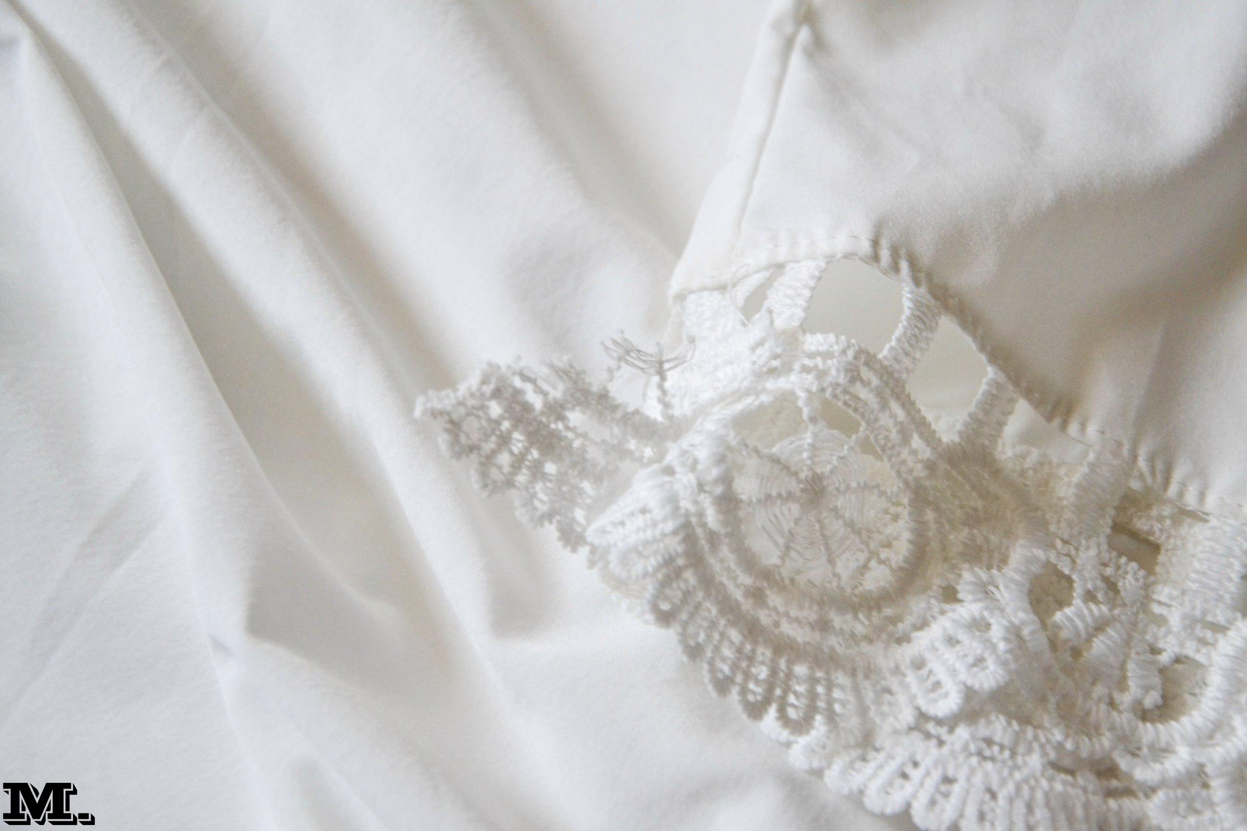 Нежное белоснежное платье