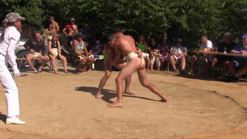 Чемпионат Украины по сумо 31082013г в п.г.т. Утес Победа Давыденко Олега