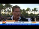 The Hoff , Zac Efron and Pamela Anderson get Interviewed at Baywatch Premiere 2017 1080p HD