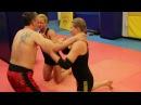Dual mixed wrestling.Yana Iron and Miranda Power Big Foot