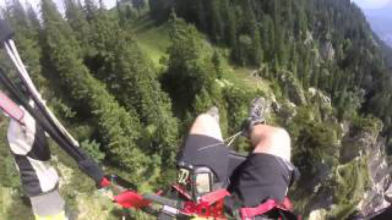 Paraglider crashes in to mountain