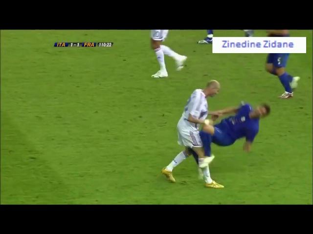 Красная карточка Зидана за удар головой Матерацци