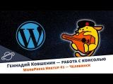 Геннадий Ковшенин — взаимодействие с WordPress через командную строку