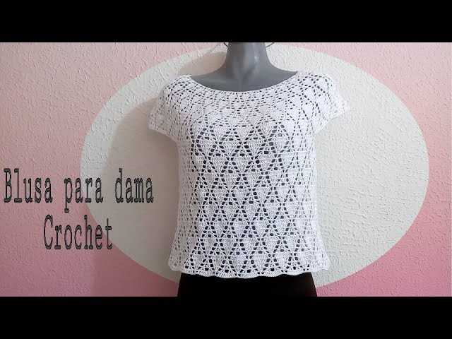 Blusa blanca para Dama en crochet