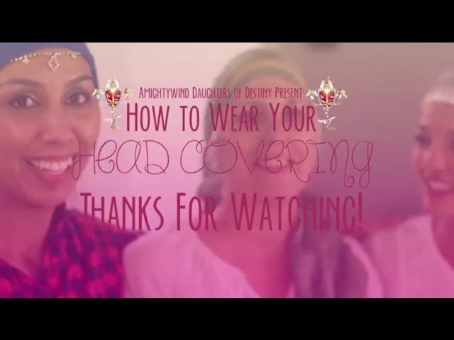 Easy Head Coverings - Fun, Beautiful Graceful (How-To Tie Tichel) Tips for Beginners