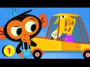 Mr. Monkey, Monkey Mechanic | Mr. Giraffe's Car Is Too Small | Cartoon For Kids