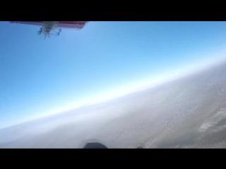 Прыжок с парашютом от первого лица GoPro