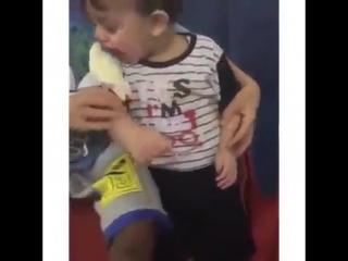 Ребёнок попытается съесть попугая