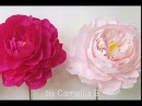 DIY How to make paper Peony flower from crepe paper Inter 1 Hoa mẫu đơn giấy nhún
