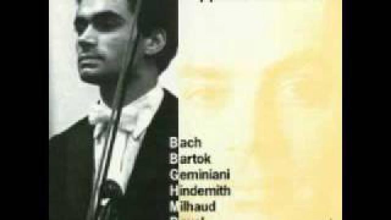 Philippe Hirshhorn playing Geminiani sonata c minor 4 Allegro