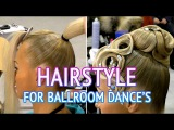 Hairstyle for dancesport competition - Step1 How to make Hairstyle for Ballroom dances