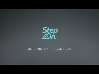 Burton Step On Tutorial - Adjusting Your Gas Pedals