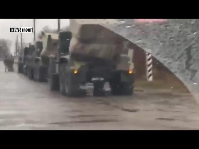Колонна украинских «Градов» в Херсонской области движется в направлении на Мар ...
