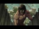 Mikasa and Titan Eren vs Female Titan HD