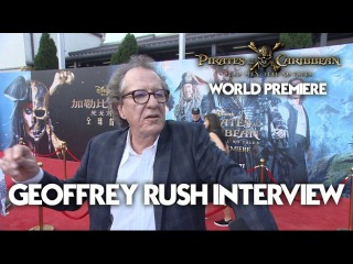Geoffrey Rush Interview at the Pirates Of The Caribbean: Dead Men Tell No Tales World Premiere (HD)