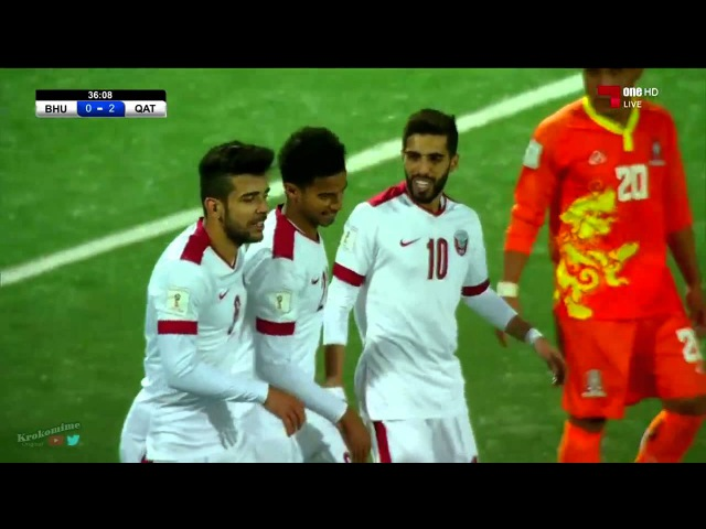 ★ BHUTAN 0 - 3 QATAR ★ RUSIA2018 FIFA ELIMINATORIAS - Clasificacion al Mundial