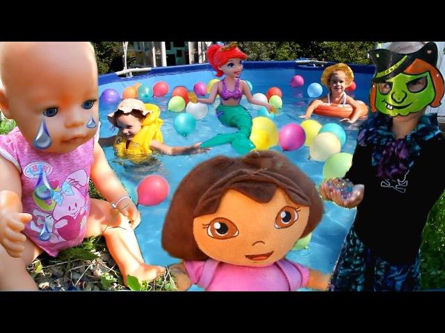Мультик с игрушками Злая ВЕДЬМА УКРАЛА МАЛЫША Беби Бoн Даша путешественница на ...