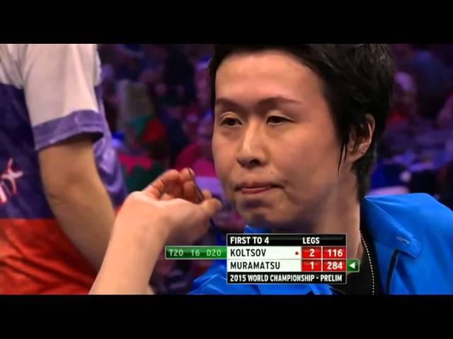 2015 PDC World Darts Championship Haruki Muramatsu vs Boris Koltsov