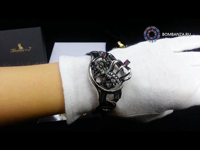 Браслет Alcozer J, часы и короны, Classic, B4395C. Элитная бижутерия из Италии